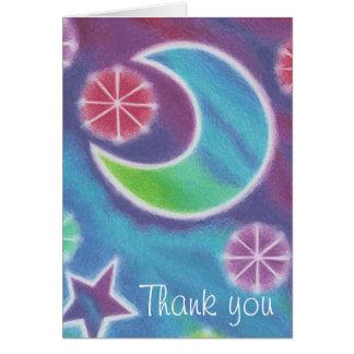 """La luna brillante """"le agradece"""" cardar tarjeta de felicitación"""