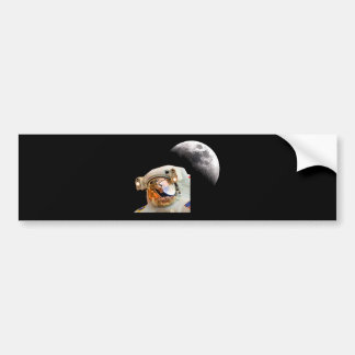 La luna pegatina de parachoque
