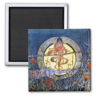 La luna de cosecha - Charles Rennie Mackintosh Imán Cuadrado