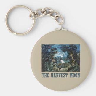 La luna de cosecha llaveros personalizados