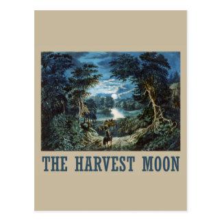 La luna de cosecha postales