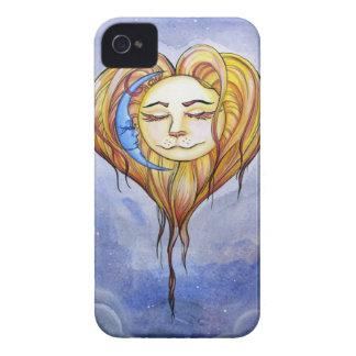La Luna de El Amor del Sol y iPhone 4 Case-Mate Protectores