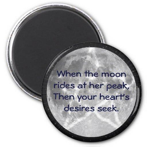 La luna de la bruja imán de frigorífico