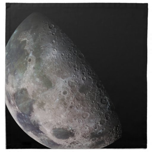 La luna de la tierra servilletas de papel
