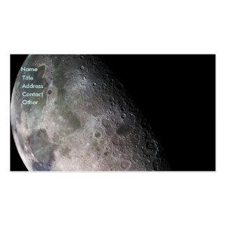 La luna de la tierra tarjetas de visita
