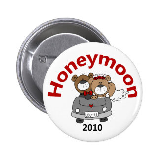 La luna de miel lleva 2010 pin redondo de 2 pulgadas