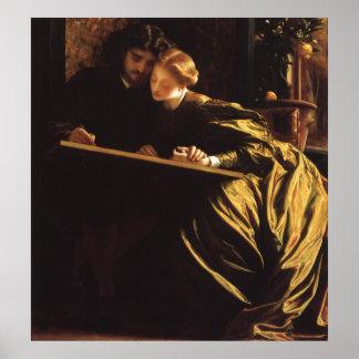 La luna de miel por Leighton, arte del pintor del Póster