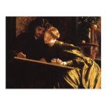 La luna de miel por Leighton, arte del pintor del Postal