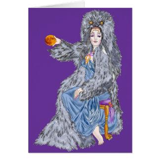 La luna del cazador tarjeta de felicitación