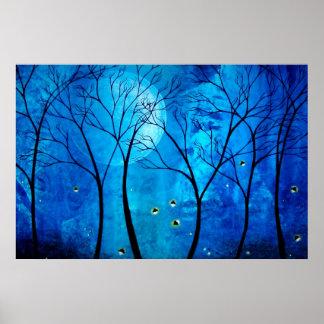 La luna del crepúsculo póster