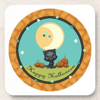 La luna del gato negro del feliz Halloween protago Posavaso