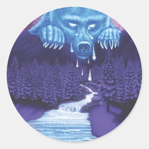 La luna del oso blanco llora pegatinas