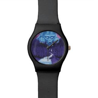 La luna del oso blanco llora reloj