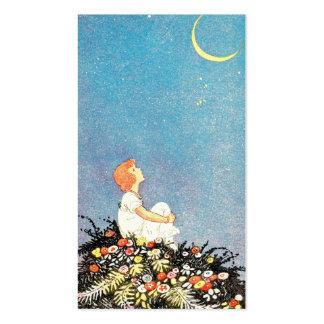 La luna desea la señal tarjetas de visita