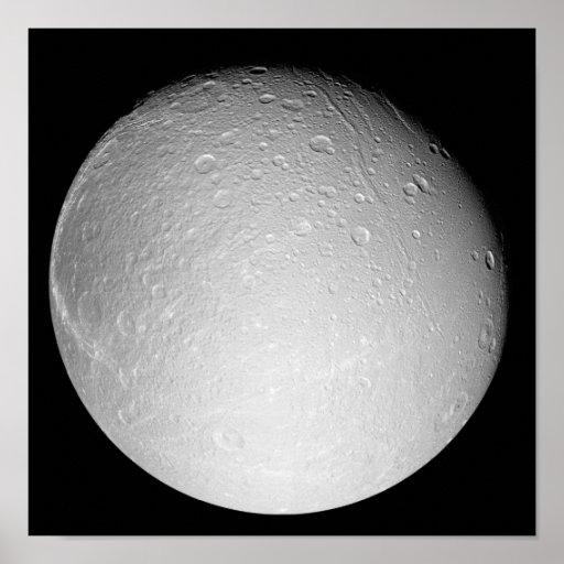 La luna Dione de Saturn Impresiones