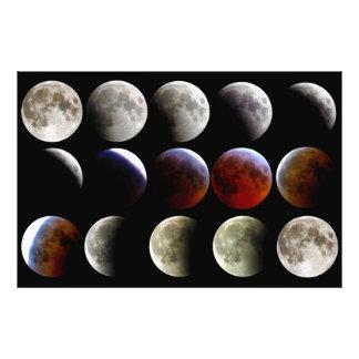 La luna durante un eclipse lunar completo cojinete