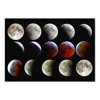 """La luna durante un eclipse lunar completo invitación 3.5"""" x 5"""""""