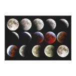 La luna durante un eclipse lunar completo impresión de lienzo