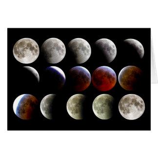 La luna durante un eclipse lunar completo tarjeta de felicitación