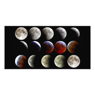 La luna durante un eclipse lunar completo tarjeta fotográfica