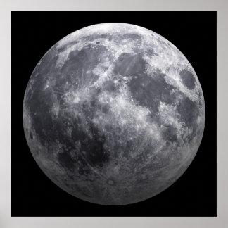 La luna - efecto 3D Póster