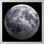 La luna - efecto 3D Posters