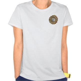 La luna embellecida con las joyas camisetas