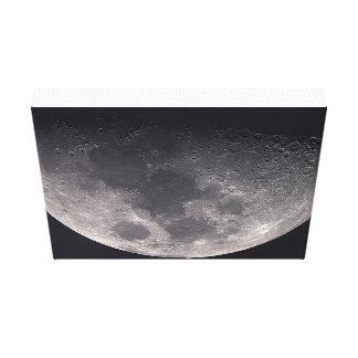 La luna en lona impresión en lona estirada