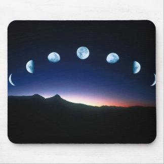La luna en ratón-estera de las fases mouse pad