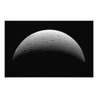 La luna Enceladus de Saturn Fotografías
