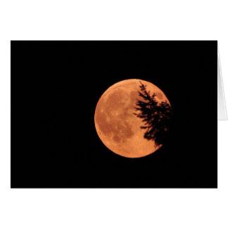 ¡La luna estupenda! Tarjeta De Felicitación