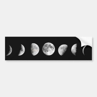 La luna fresca organiza a la pegatina para el pegatina para auto