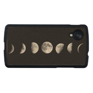La luna fresca organiza el caso de madera del nexo funda de nexus 5 carved® de arce