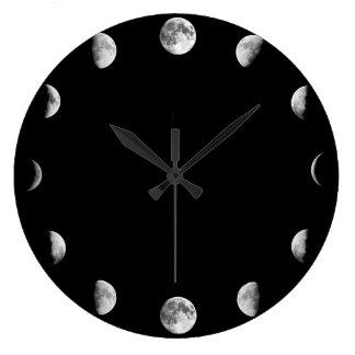 La luna fresca organiza el reloj de pared mínimo