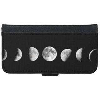 La luna fresca organiza la caja de la cartera del funda cartera para iPhone 6