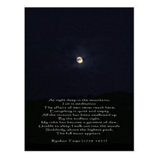 La Luna Llena aparece/poesía inspirada del zen Tarjetas Postales