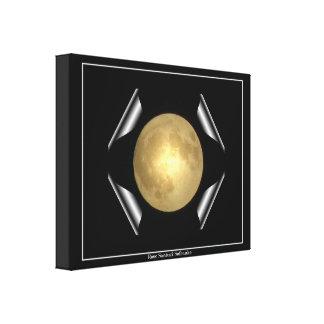 """La Luna Llena """"despliegue"""" envolvió la impresión d Lienzo Envuelto Para Galerias"""