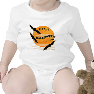 La Luna Llena golpea feliz Halloween Camiseta