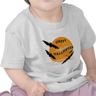 La Luna Llena golpea feliz Halloween Camisetas