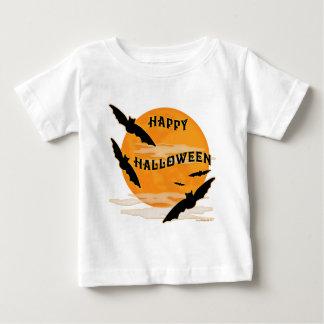 La Luna Llena golpea feliz Halloween Playeras