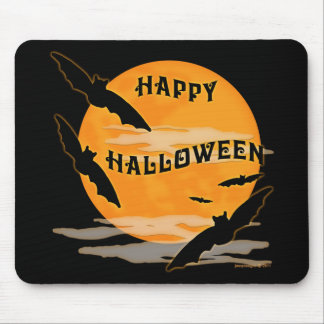 La Luna Llena golpea feliz Halloween Tapete De Ratón