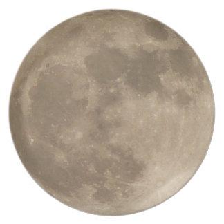 La Luna Llena platea los regalos estupendos de la Plato Para Fiesta