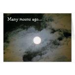 La Luna Llena se nubla la tarjeta de cumpleaños