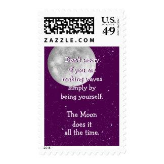 La luna lo hace todo el tiempo sellos