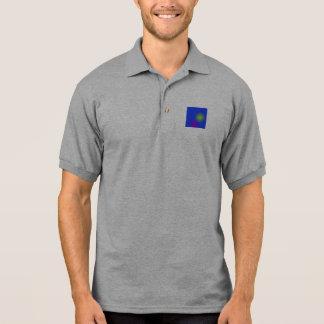 La luna más simple polo camisetas