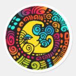 La Luna / Moon whimsical sticker sheet