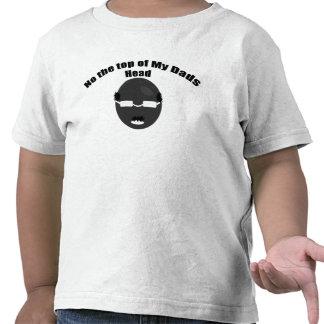 ¿La luna? Ninguna cabeza calva de los papás Camisetas