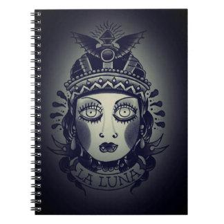 la luna note pad notebook