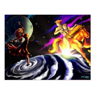 La Luna & O Helios Postcard