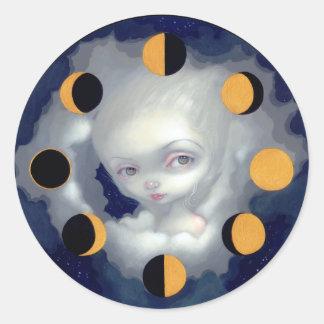 La luna organiza al pegatina